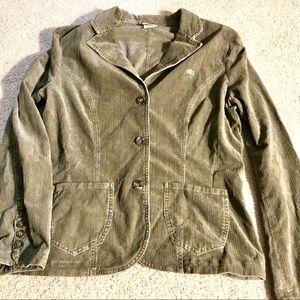 Lacoste Corduroy Green Retro Button Up Jacket